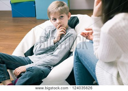 Boy And Psychological Session