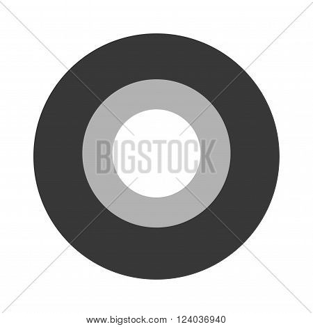Roll of black insulating tape isolated on a white background. Sticky insulating tape. Insulating tape roll. Insulating electric tape protection