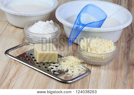 It is made from soap crystalline sodium and water