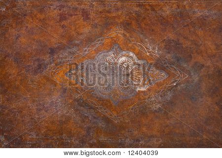 cover of an ancient  talmud as a background