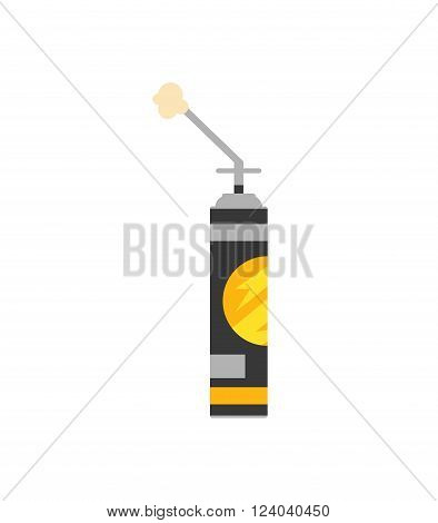 Construction foam flat vector container illustration. Some foam polyurethane container. Isolated construction foam isolated. Construction foam work industry