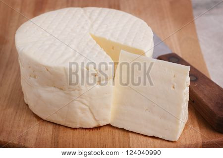 Wheel Of Brazilian Traditional Cheese Minas
