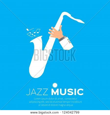 Sax player playing jazz music. Saxophonist. Jazz performer.