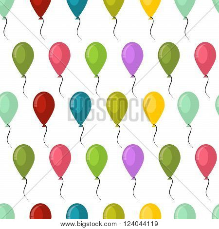Balloons seamless pattern background, beautiful colorful balloons carnival happy surprise group helium string. Balloons seamless pattern holiday celebration party birthday fly.