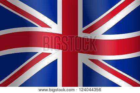 Great Britain Waving Flag United Kingdom English Background Vector Illustration