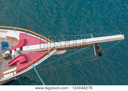 Vessel sail deck aerial view, Kyrenia, Northern Cyprus