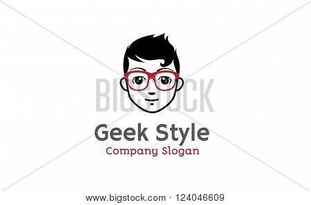 Geek Style Creative And Symbolic Logo Design Illustration