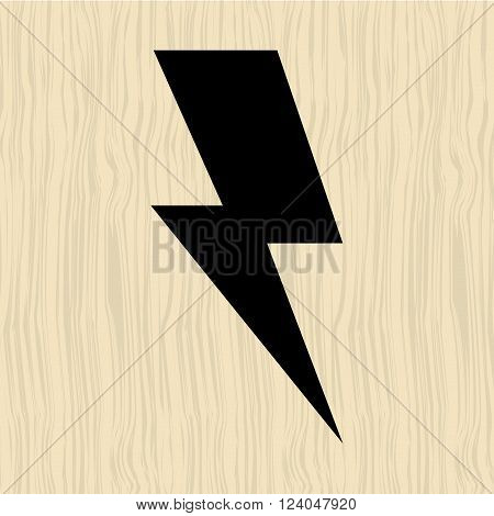 thunder icon  design, vector illustration eps10 graphic