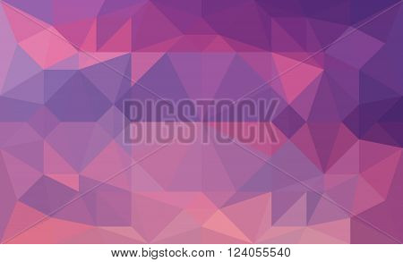 colourful violet abstract triangular low poly picture as background