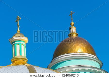Moscow, Russia, March, 30, 2016. Cathedral of the Epiphany, Yelokhovo, Moscow