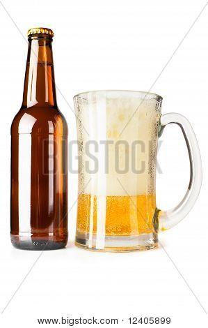 Bottle Of Beer And Mug