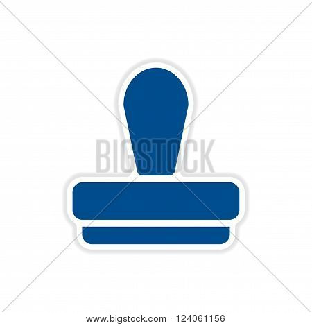 realistic paper sticker on white  background seal