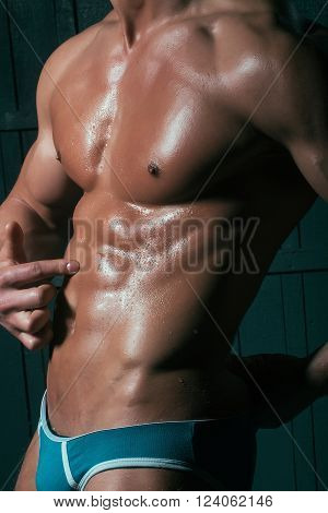 Closeup Of Perfect Naked Body
