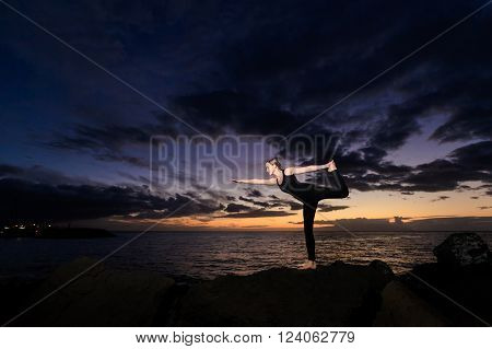 Sunset Yoga Session In Canarias