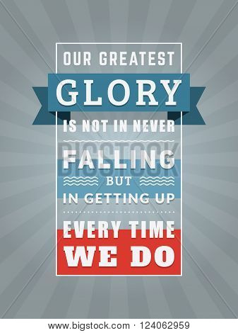 Inspirational And Motivational Quotes Typographic Poster Design In Flat Style. Vector Template For P