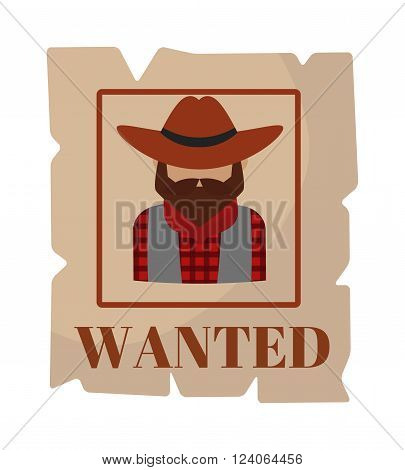 Most wanted poster vintage design and search most wanted people special poster vector. Most wanted man in hat poster concept grunge vector illustration. Western crime person