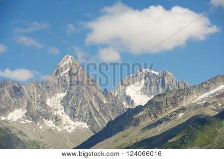 Aiguilles du Chamonix, Mont Blanc Massif, Alps, France.