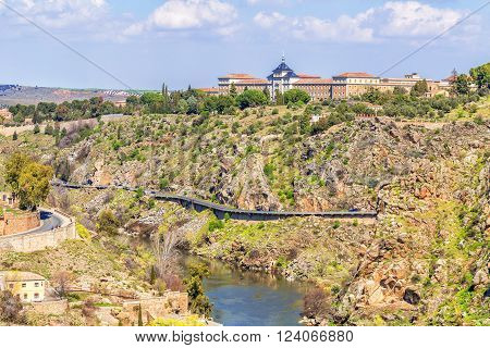 TOLEDO, SPAIN - MARCH 23, 2016: View of the historic city of Toledo Spain