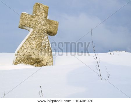 Cross On Snow