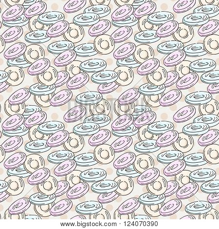 Vector Candy and Lollipop Seamless Pattern. Sweet Party Texture. Chocolate truffles.