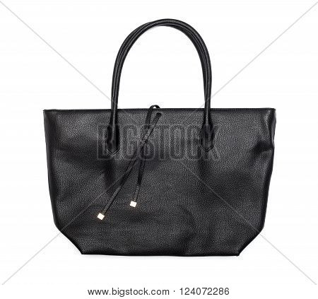 Black female bag isolated on a white background