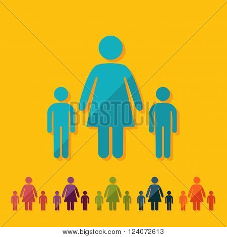 stick figure man silhouette icon vector picture