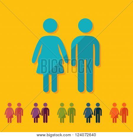 stick figure man silhouette icon vector picture