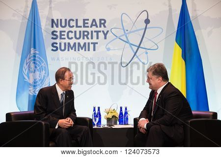 Petro Poroshenko And Ban Ki-moon