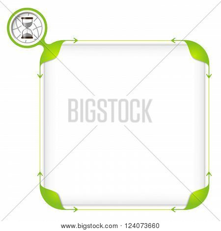 Text box to fill your text and sand glass icon