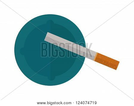 Icon cigarettes design idea and smoke cigarettes problem concept. Narcotic product cigarettes tobacco danger symbol. Cigarettes tube flat style vector illustration.
