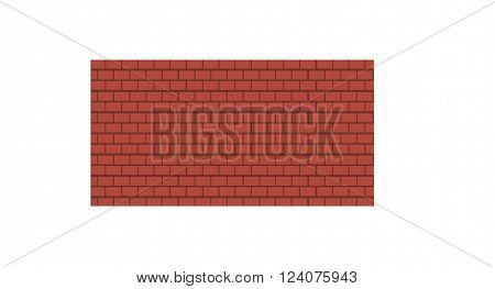 Brick wall cement concrete texture and architecture structure block brick wall. Brick wall red stone rough material. Building weathered construction. Background of old vintage brown brick wall vector.