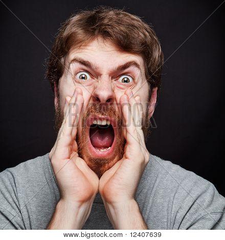 Scream Of Man Making An Announcement