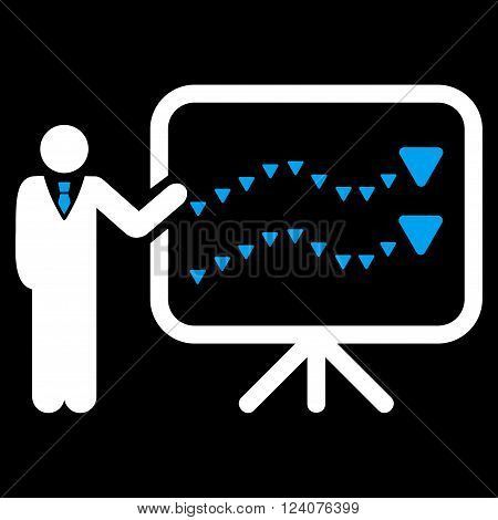 Trends Presentation vector icon. Trends Presentation icon symbol. Trends Presentation icon image.