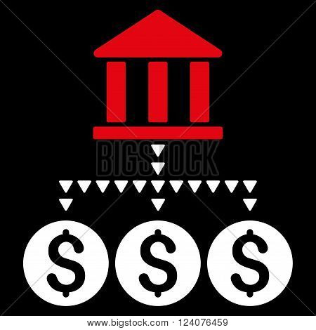 Bank Structure vector icon. Bank Structure icon symbol. Bank Structure icon image.