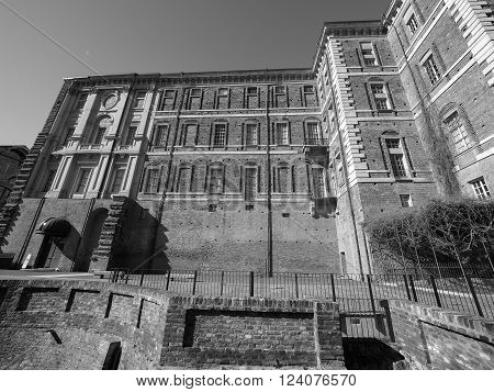 Rivoli Castle In Rivoli In Black_and_white