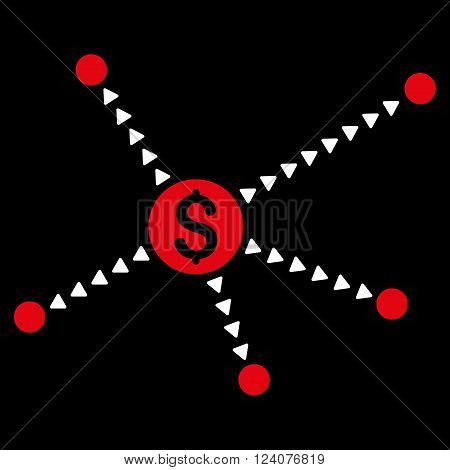 Dotted Financial Links vector icon. Dotted Financial Links icon symbol. Dotted Financial Links icon image. Dotted Financial Links icon picture. Dotted Financial Links pictogram.
