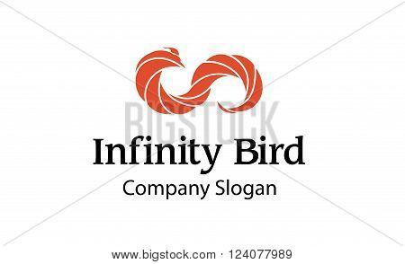 Infinity Bird Creative And Symbolic Logo Design Illustration