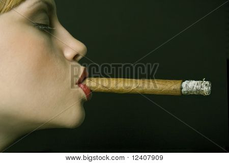 Elegant smoking woman