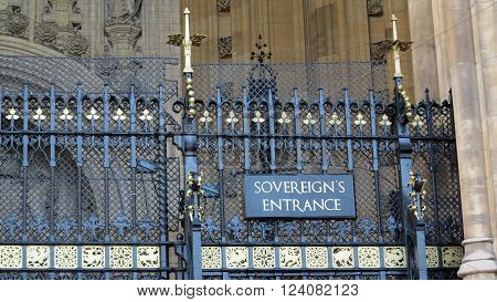 gate of sovereign's entrance in westminster cathedral