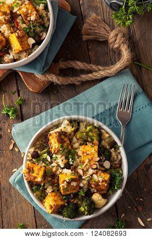Homemade Quinoa Tofu Bowl