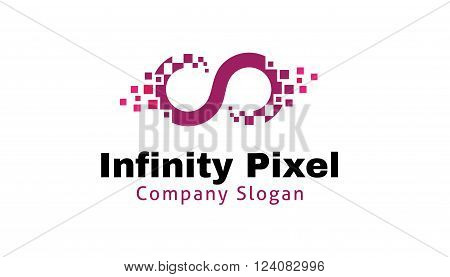 Infinity Pixel Creative And Symbolic Logo Design Illustration