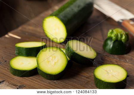 Raw Green Organic Zucchini Squash