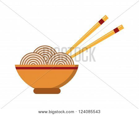 Chinese food dinner cuisine and chinese food meal dish lunch. Chinese vegetable oriental asia restaurant food. Chinese food. Chow Mein: fried noodles with chicken and vegetables chinese food vector.