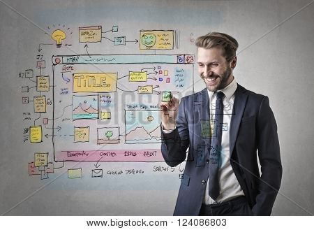 Creative young businessman