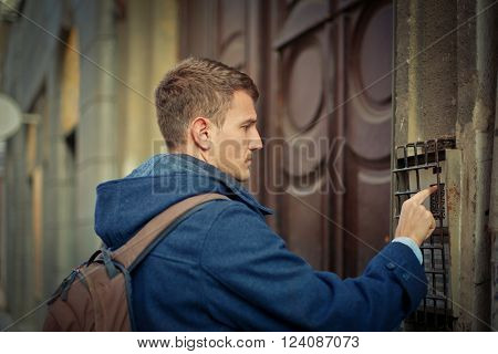 Man ringing the bell