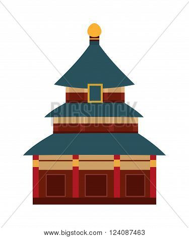 Branding identity indian temple travel culture building, indian religion ancient asia temple. Indian hinduism tower. Tourism traditional god heritage. Vector Indian temple with arch cartoon building.