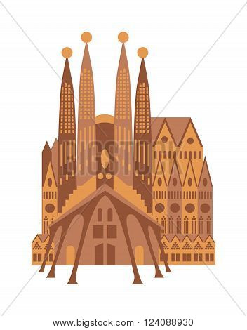 Architecture italy building and italy building travel europe landmark. Building famous historic cathedral facade cityscape. Italy building cathedral Milan catholic church Italy gothic facade vector.