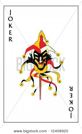 """Jumping Jack"" joker playing card"