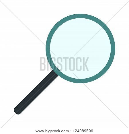 Search loupe zoom look, optic optimization loupe tool object. Loupe magnifying lens and loupe research zoom glass. Magnification loupe exploration. Magnifying glass flat loupe icon vector illustration