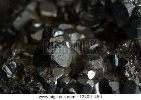 close up of a stone known as Iron pyrite or the common name of fools gold